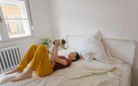 Routine du matin avec un chien